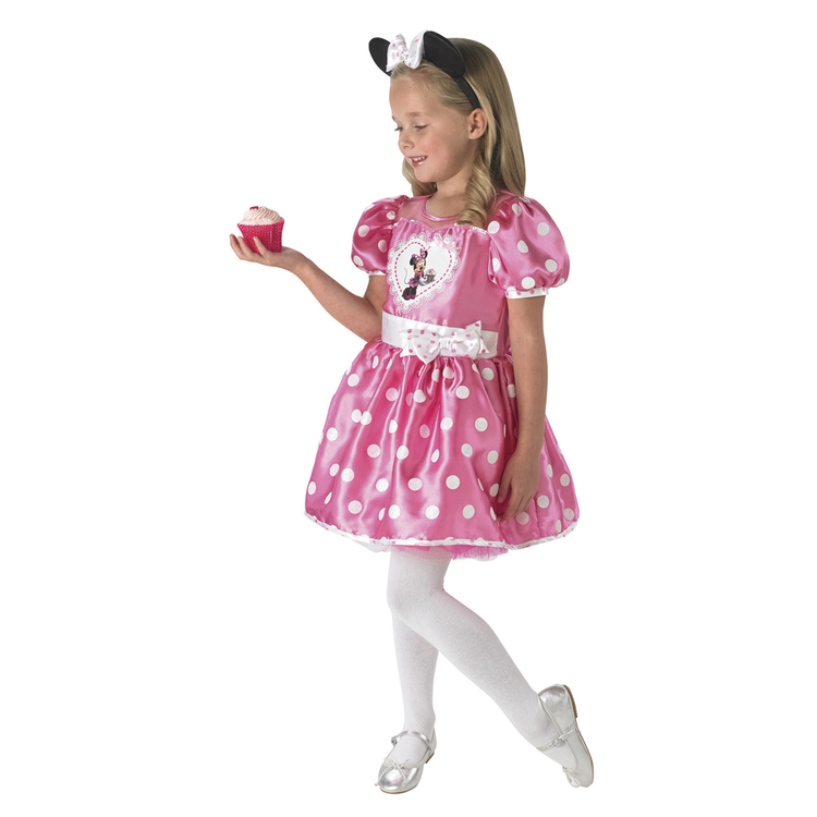 Disney Minnie Mouse Cupcake Dress Pink 4 - 6 Years