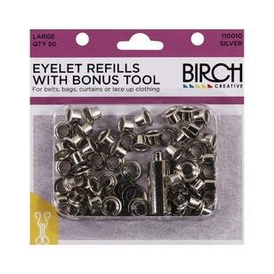 Birch Eyelet Refills With Bonus Tool