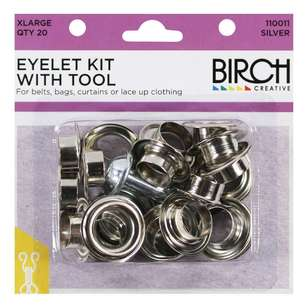 Birch Eyelet Kit With Tool - 20 Pack