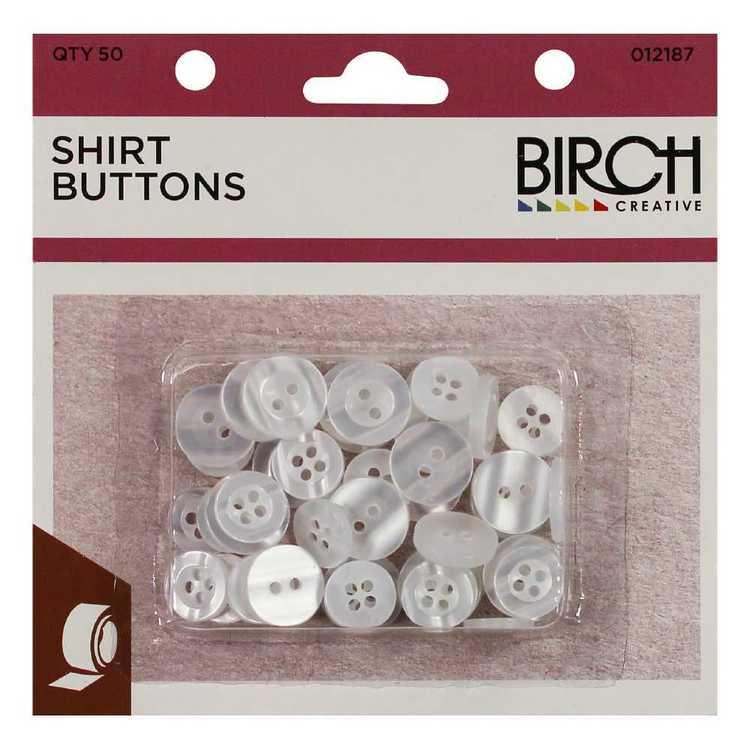Birch 50 On Shirt Buttons