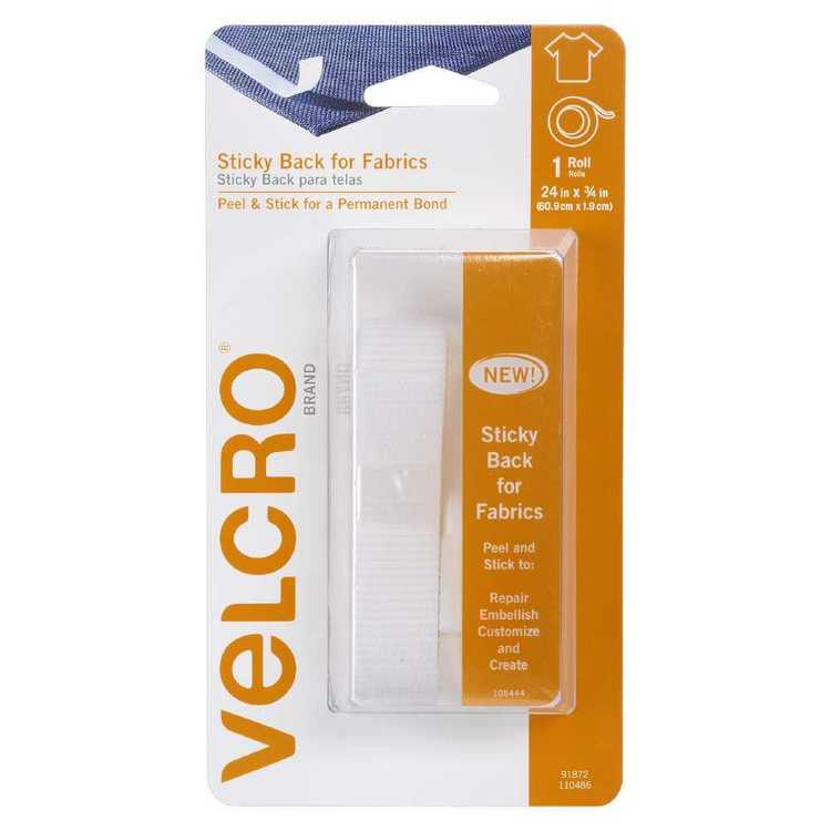 VELCRO® Brand Sticky Back For Fabric 24 x 0.75 Inch Strip