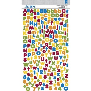American Crafts Playtime Alphabet Stickers