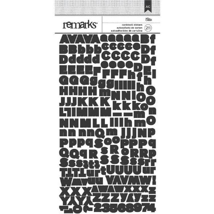 American Crafts Allie Alphabet Stickers
