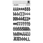 American Crafts Heather Leopard Slim Alphabet Stickers Black
