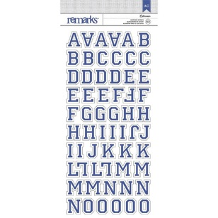 American Crafts Letterman Alphabet Stickers