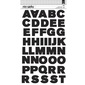 American Crafts Allie Large Capital Alphabet Stickers Multicoloured Large