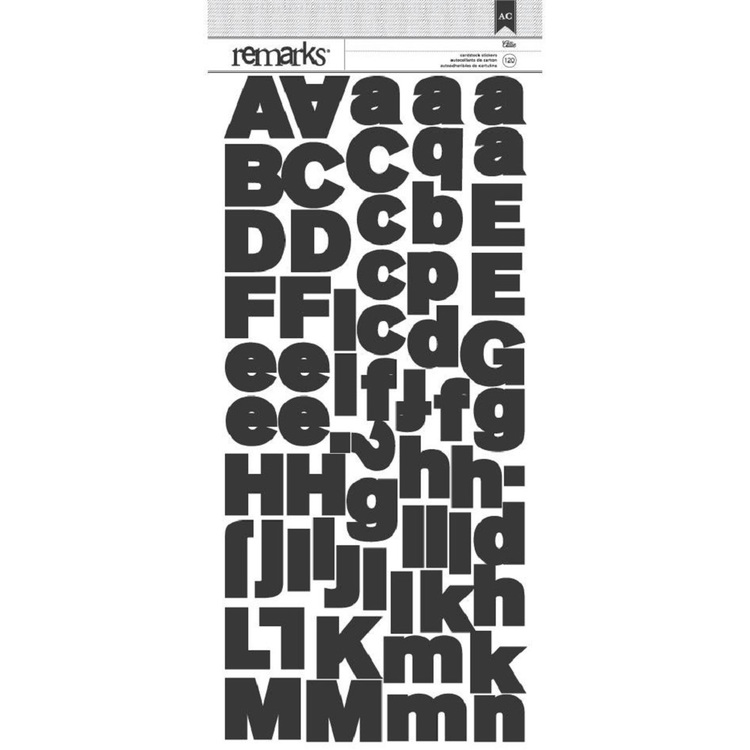 American Crafts Allie Large Alphabet Stickers