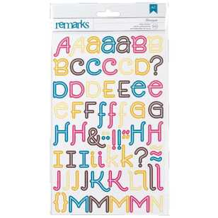 American Crafts Marcopolo Alphabet Stickers