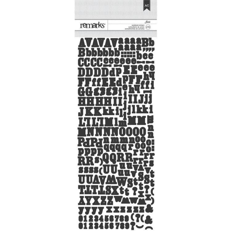 American Crafts Jocie Alphabet Stickers