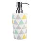 Linea Home Triangles Lotion Bottle White