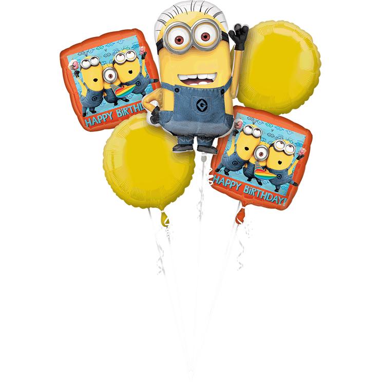Universal Studios Minions Birthday Balloon Bouquet