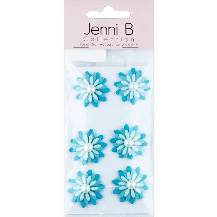 Jenni B Flower With Pearl Stickers