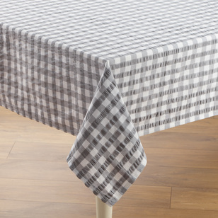 Ladelle Gingham Seersucker Tablecloth