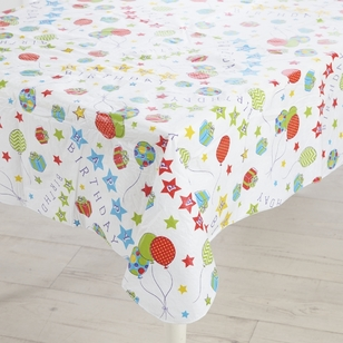In-Habit Happy Birthday Flannelback Tablecloth