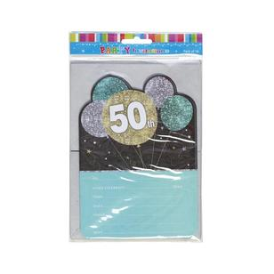 Artwrap 50th Birthday Invites