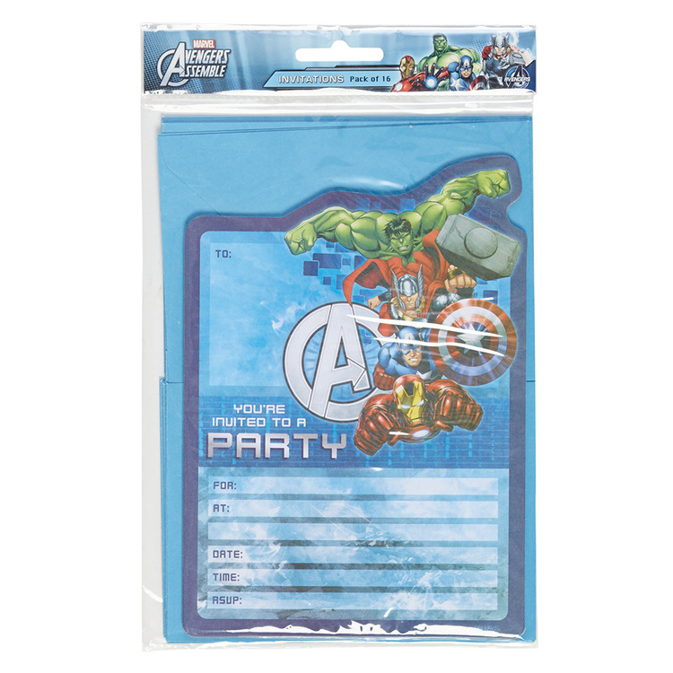 Artwrap Marvel Avengers Invites Multicoloured