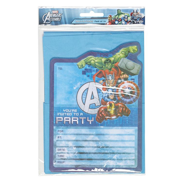 Artwrap Marvel Avengers Invites