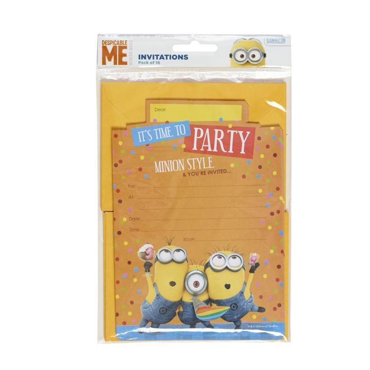Artwrap Minions Invites Multicoloured