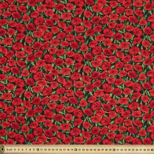 Small Poppies Fabric