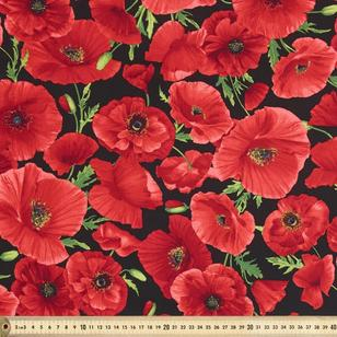 Large Poppies Fabric
