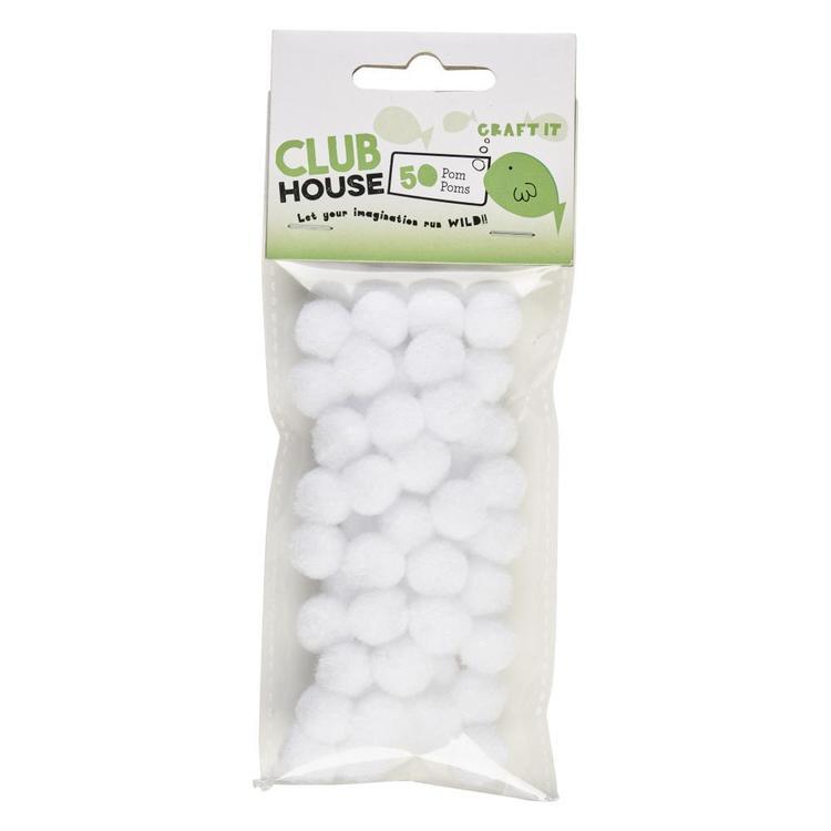 Club House Pom Poms 50 Pack