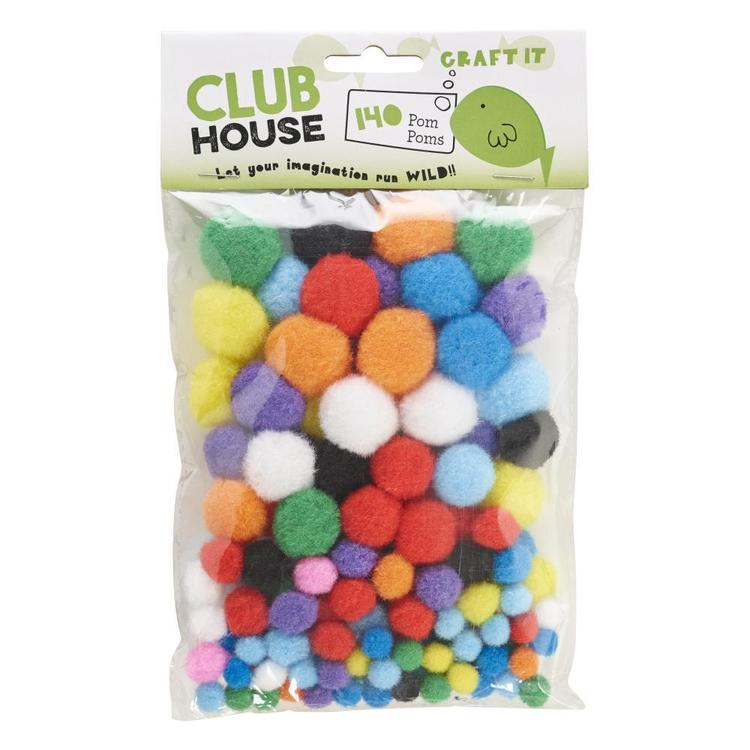 Club House Mixed Pom Poms