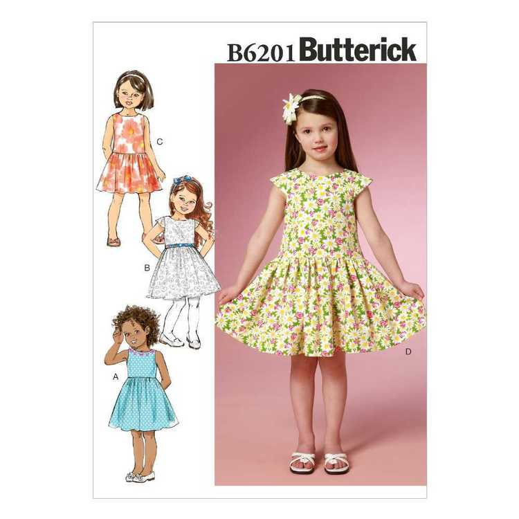 Butterick Pattern B6201 Girls' Dress