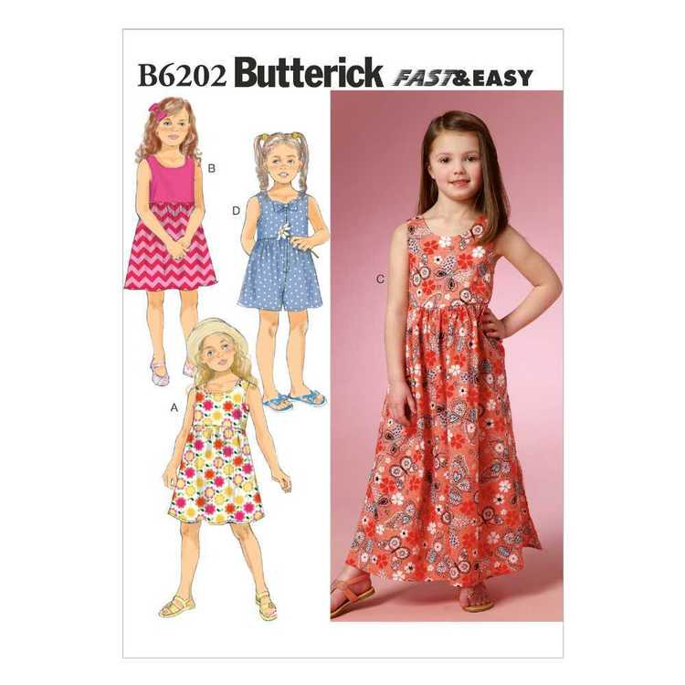 Butterick Pattern B6202 Girls' Dress & Culottes