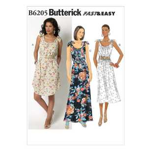 Butterick Pattern B6205 Misses' Dress
