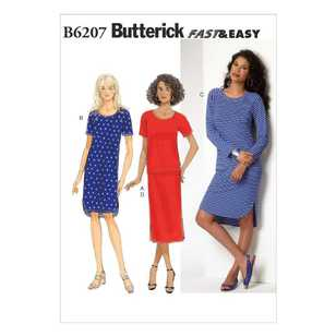 Butterick Pattern B6207 Misses' Top Dress & Skirt