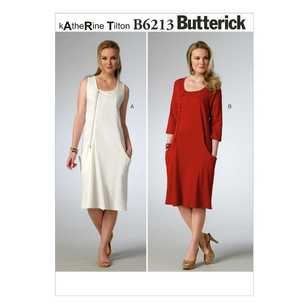 Butterick Pattern B6213 Misses' Jumper & Dress