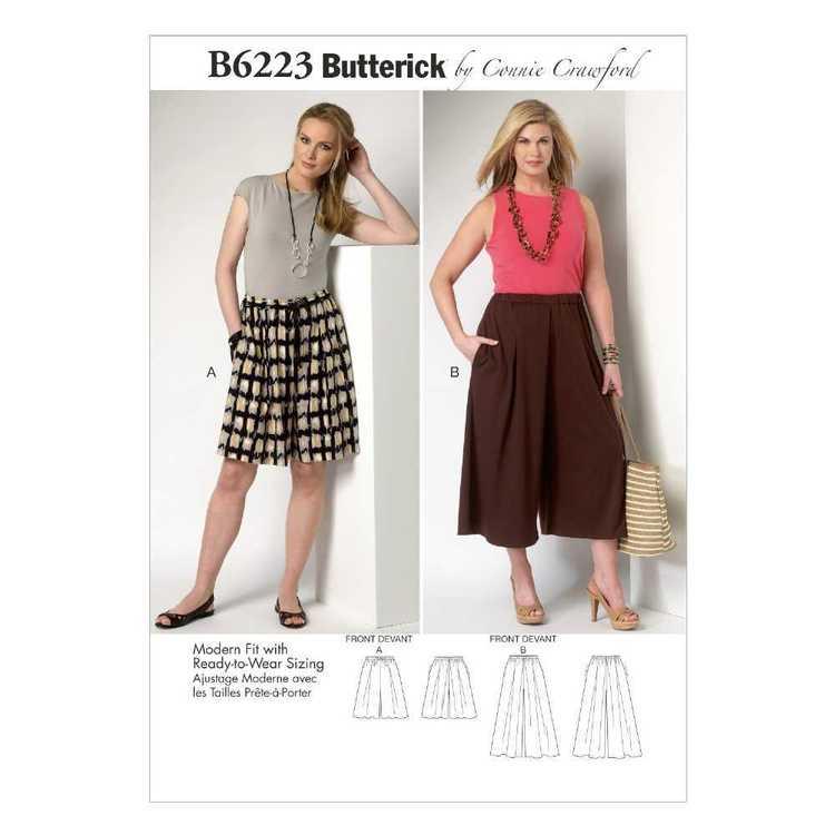 Butterick Pattern B6223 Misses' & Women's Culottes
