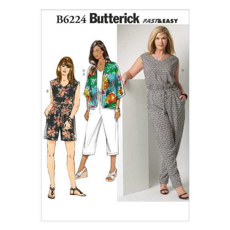 Butterick Pattern B6224 Women's Kimono & Jumpsuit