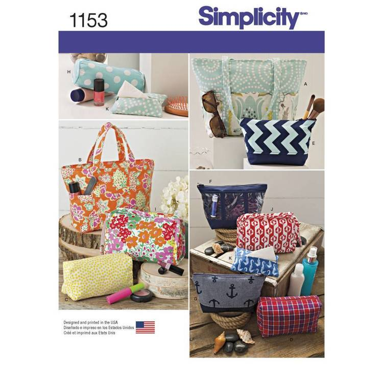Simplicity Pattern 1153 Accessory Bags