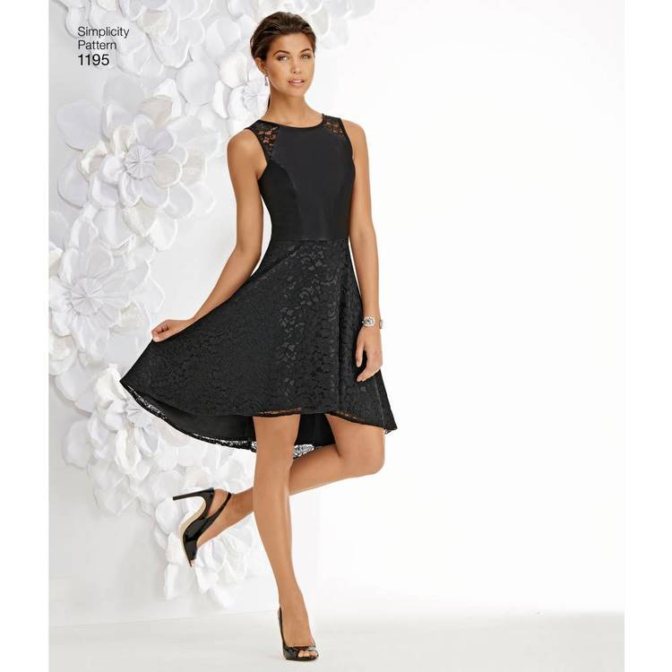 Simplicity Pattern 1195 Misses' & Miss Petite Special Occasion Dress