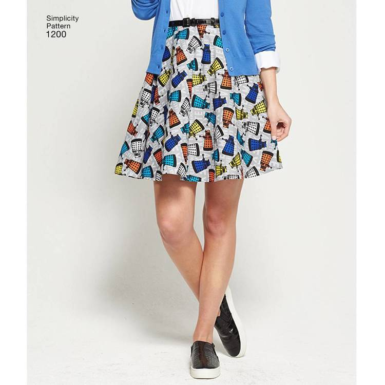 Simplicity Pattern 1200 Misses' 42463 Circle Skirts