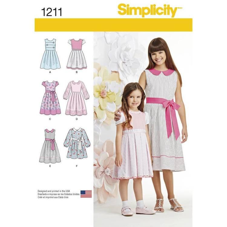 Simplicity Pattern 1211 Child's & Girls' Dresses