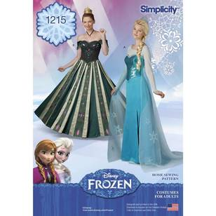 Simplicity Pattern 1215 Misses' Disney Frozen Costume