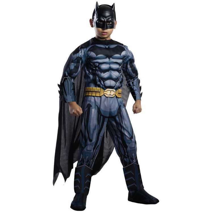 DC Comics Deluxe Batman Muscle Suit Costume Black