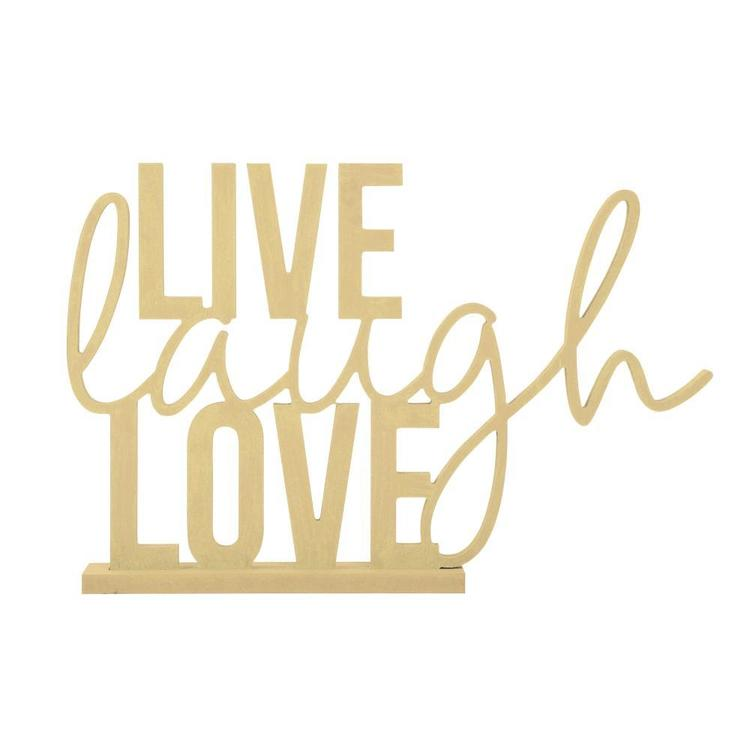 Kaisercraft Kaiserwood Stand Phrase Live Laugh Love