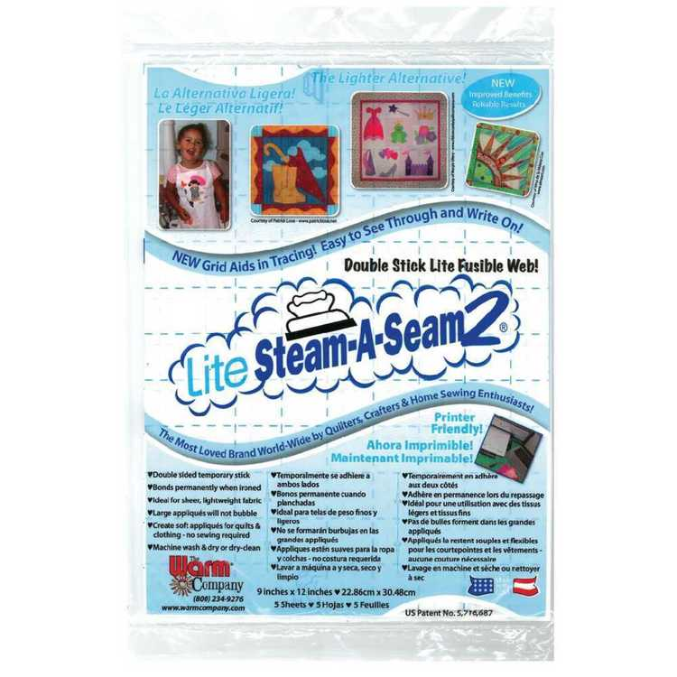 Birch Steam A Seam Lite Sheets White 9 x 12 in