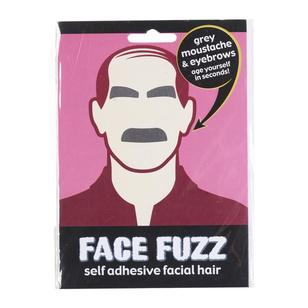 Face Fuzz Grey Moustache & Eyebrows