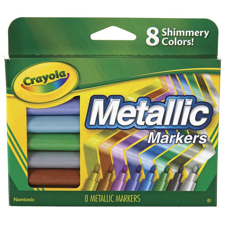 Crayola Metallic Markers 8 Pack