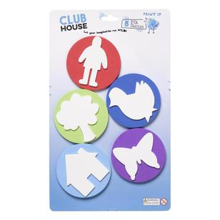 Club House EVA Stamp & Stamp Pad 5 Pack