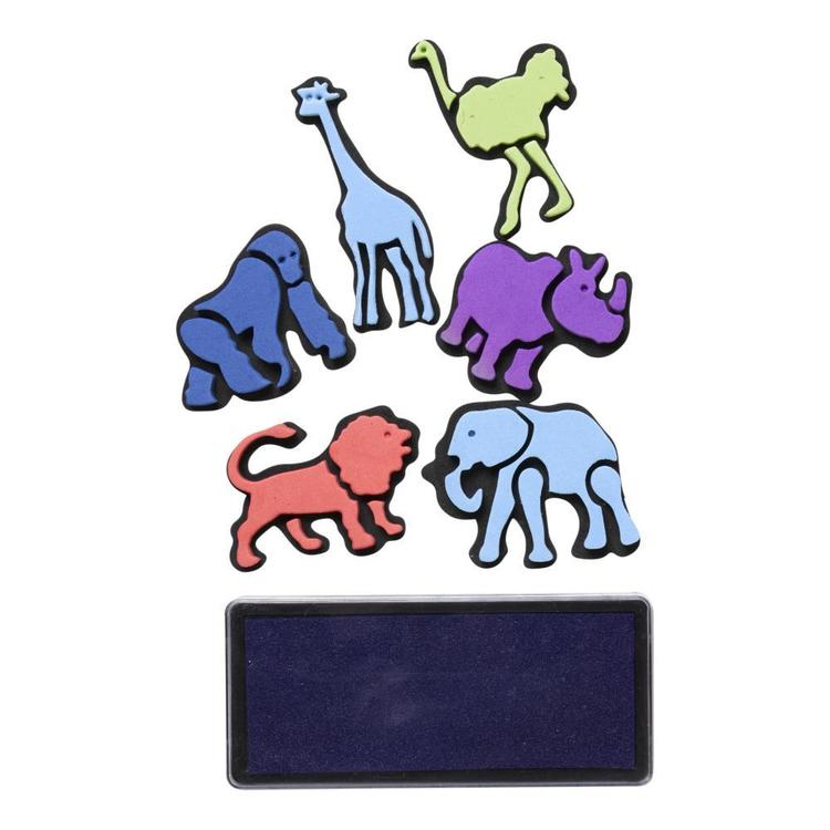 Club House EVA Stamp & Stamp Pad 6 Pack Multicoloured