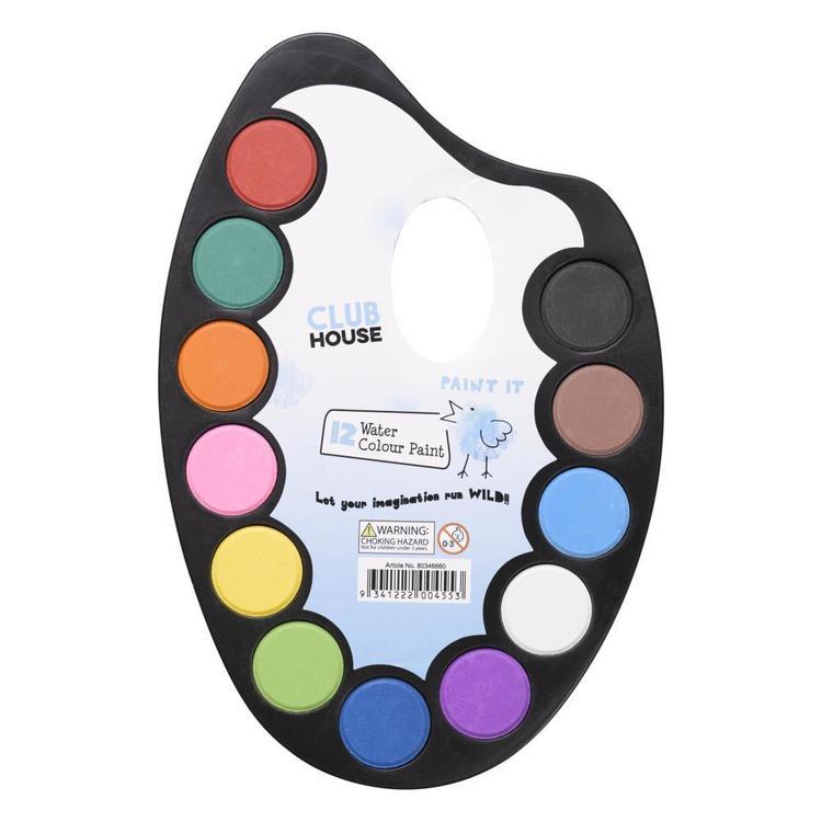 Club House Kids Water Colour Palette Brush