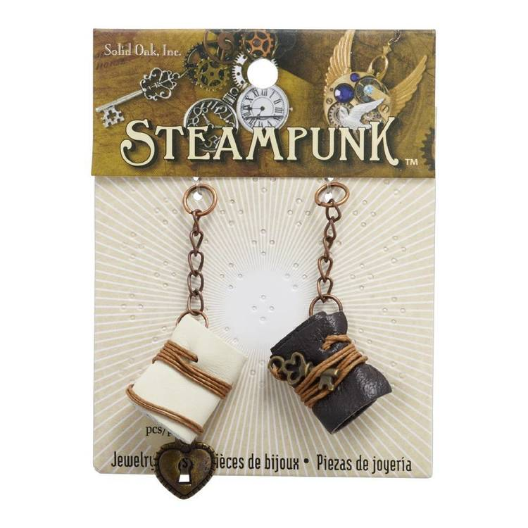 Steampunk Leather Book Charms