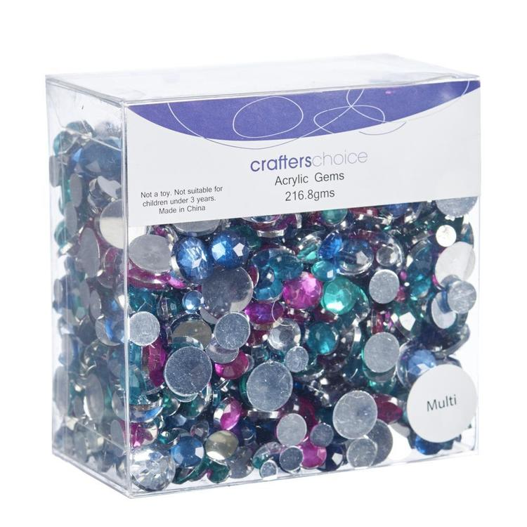 Crafters Choice Assorted Round Acrylic Gems