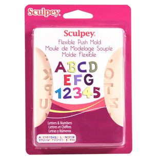 Sculpey Push Mould Letters & Numbers