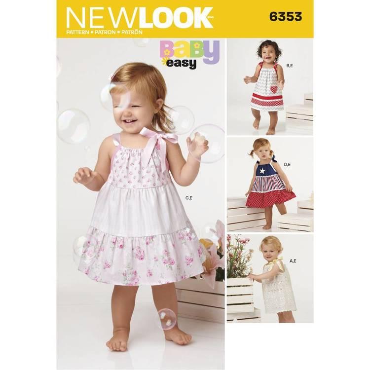 New Look Pattern 6353 Babies' Dresses & Panties